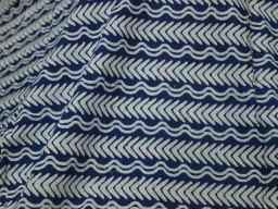 Indigo and White hand block print fabric