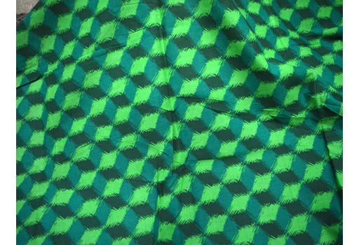 Bright Colors Pure Cotton Fabric in Geometrical Print
