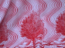 Screen Printed Cotton Fabric in Red