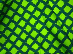 Screen Printed Pure Cotton Fabric in Parrot green