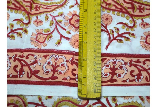 Quilting Fabric Block Printed Cotton Hand Printed Indian Fabric Soft Cotton fabric by the yard Fabric for summer dress Crafting sewing fabric