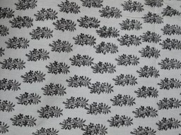1.5 Meter Fabric  Black Floral design Indian Hand Block Printed Sewing Soft Cotton Ethnic wear Dress Quilting Drapery Apparel Baby Nursery