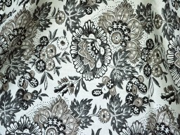 Grey Indian Block Print Soft Cotton Fabric sold by yard Hand Printed costume Summer dress Girls kids Sewing Crafting Drapes Apparel Nursery