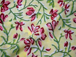 Indian fabric for quilting Hand Stamped Block Print Cotton