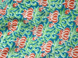 Hand Stamped Fabric Ethnic Boho Gypsy Fabric