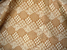 Brown rust Quilting Sewing Crafting Baby Nursery Crib Drapes Clothing Apparels Indian Soft Cotton Fabric by the Yard Kid Women dress fabric