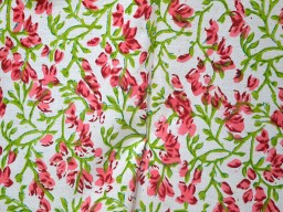 Vegetable Dye Soft Cotton Fabric in Carrot Red