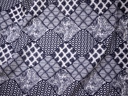Black Quilting Sewing Crafting Baby Nursery Crib Drapery Clothing Apparels Indian Soft Cotton Fabric by the Yard Kids Women Summer Dresses