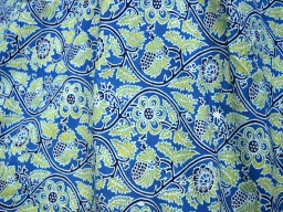 Blue Indian Floral Printed Summer Dresses Soft Cotton Fabric by yard Nursery Cribs Quilting Sewing Crafting Clothing Boho Dresses Cushions