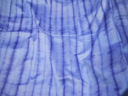 Aegean Blue Apparel  Shibori  Hand Dyed Cotton Silk fabric