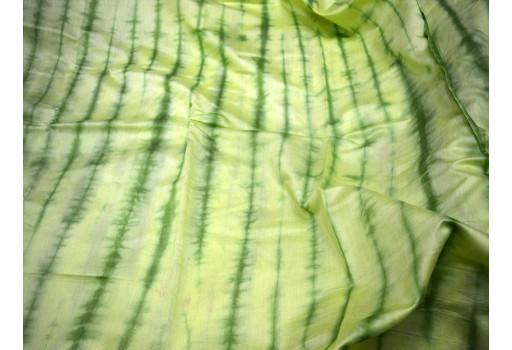 Lime Green and Pear Green  Shibori Fabric cotton