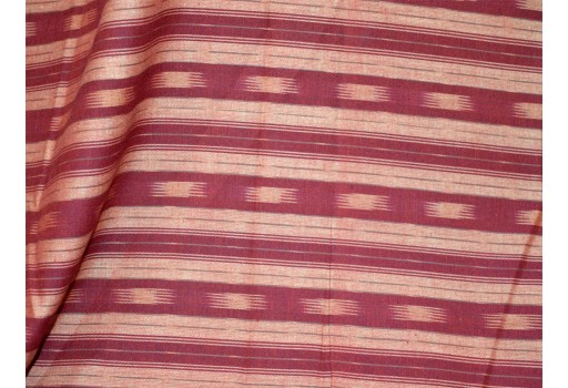 Maroon Color Indian Fabric Ikat Cotton Fabric by the yard Handloom Homespun Cotton Ikat for cushion covers Handwoven Ikat for summer dress Quilting