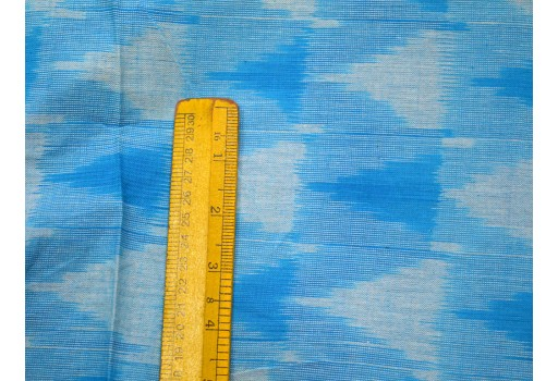 Hand loom Ikat Pattern in Blue and White Color