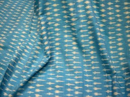Indian Fabric Turquoise Blue Ikat Fabric