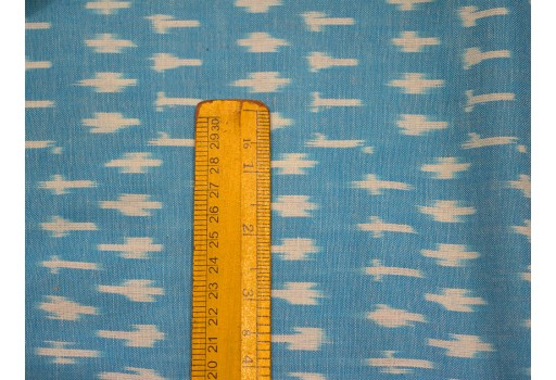 Turquoise Blue Ikat Cotton Fabric by yard Indian Homespun Fabric Handwoven Ikat cushion cover summer crafting sewing curtains ikat fabric
