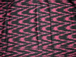 Ikat Cotton Fabric in Twin shade of Magenta and Black
