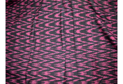 Indian Fabric Ikat Cotton Fabric by the yard Handloom Ikat Black Color Ikat for cushion covers curtains dress material kids wear ikat fabric