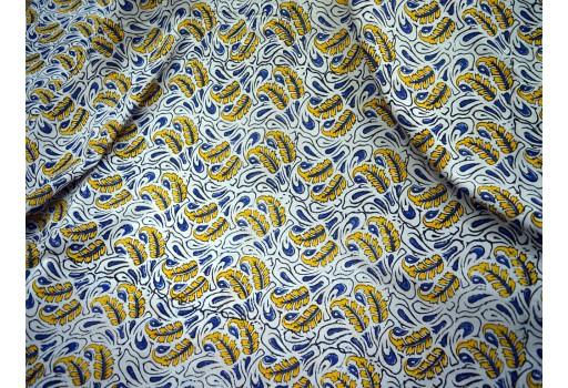 Indian Fabric Apparel Quilting Block Print Cotton