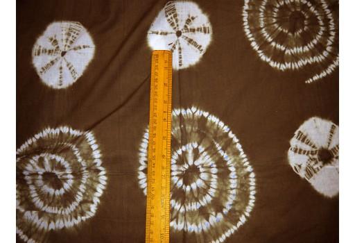Hand Dyed Shibori Organic color Tie Dye indigo Fabric