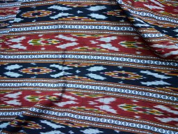 Handwoven Indian Hand loom Ikat Cotton Fabric