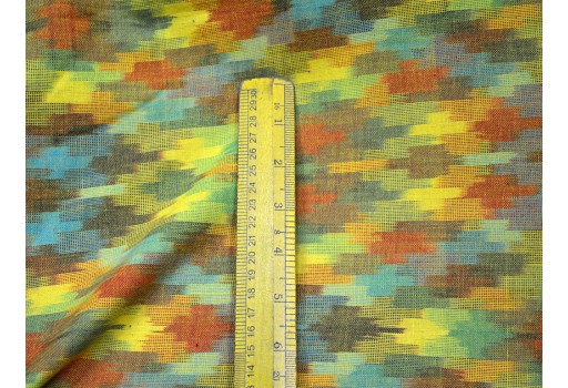 Indian Ikat Fabric for Home Decor Handloom Ikat Cotton Fabric Homespun Ikat multi color fabric cushion covers Handwoven Ikat fabric
