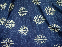Summer dress fabric Organic Indigo Fabric Floral Print Cotton