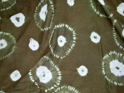 Brown Indian Shibori Tie Dye Fabric Hand Dyed cotton fabric sold by the yard Kids Summer Dresses Curtains Drapery Mudcloth Curtains Drapery