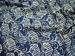 Quilt Fabric Indian Fabric Hand Block Printed Indigo Blue Cotton Crafting Sewing Summer Fabric