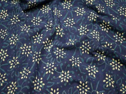 Indian Block Printed Indigo fabric Quilting Fabric vegetable dyed cotton fabric