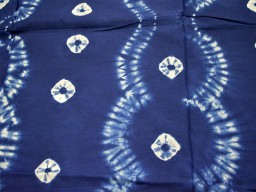 Indigo Shibori Fabric Blue White Hand Dyed Indigo cotton fabric