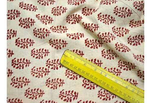 Soft Cotton Summer Dress Fabric Indian Cotton Fabric in Maroon color