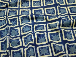Crafting Indigo Blue Cotton Fabric Sewing Hand Block Printed block print cotton