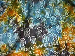 Grey Blue Batik Print Cotton Fabric Sewing Crafting Indian Cotton Fabric
