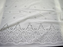 Embroidered Eyelet Cotton Fabric by the Yard Sewing White Eyelet Fabric for kids Dresses