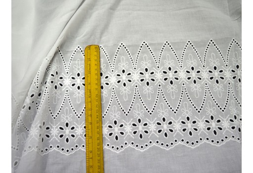Crafting Dye-able Embroidered Eyelet Cotton Fabric by the Yard Sewing