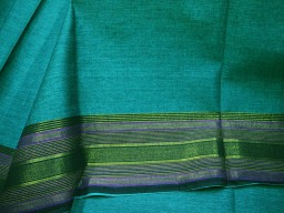 South Indian Homespun cotton with lovely border Crafting Sewing Summer Dress