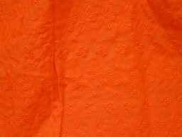 Orange Eyelet Fabric Embroidered Cotton Fabric for kids summer dresses