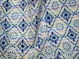 Indian Cotton fabric for quilting sewing Indigo and White hand block print fabric