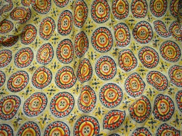 Yellow Quilting Soft Cotton Fabric Hand Printed Fabric Block Print Cotton