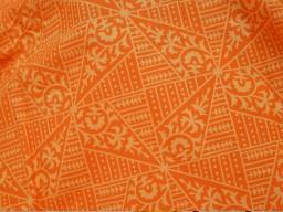 Orange block print indian cotton by the yard fabric sewing bohemian hand block printed fabric summer dresses handloom kurta cushion covers home furnishing curtain fabric drapery