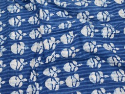 Indian navy blue floral indigo cotton by the yard fabric sewing crafting quilting hand block printed summer dresses handloom kurta cushion covers home furnishing curtain fabric drapery