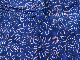 Indian hand stamped indigo blue cotton by the yard fabric sewing crafting quilting hand block printed summer dresses handloom table runner cushion covers home furnishing curtain fabric drapery