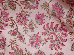 Hand printed cotton by yard fabric indian floral design block print soft fabric costume summer dresses kids sewing crafting home decor curtains drapery