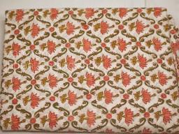 Indian Floral Block Stamp Print Soft Cotton Fabric Yardage Pajamas Sewing Craft Quilting Kitchen Curtain Summer Dress Shorts Kids Sleepwear