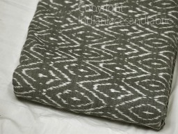 Dark Grey Ikat Cotton Fabric Yardage Handloom Fabric sold by yard Summer Dresses Material Home Decor Yarn Dyed Remnant Quilting Table Runner