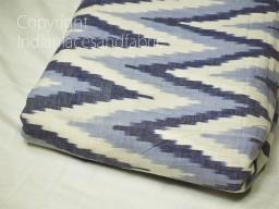 Blue Indian Ikat Cotton Fabric by yard Homespun Handwoven Cushion Covers Crafting Summer Women Pajamas Kids Shorts Sewing Kitchen Curtains