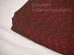 Burgundy Ikat Cotton Fabric Yardage Handloom Fabric sold by yard Summer Dresses Material Home Decor Yarn Dyed ..
