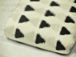 Black Ikat Fabric Yardage Handloom Upholstery Fabric Cotton sold by yard Double Ikat Home Decor Yarn Dyed Quilting Draperies Cushion Covers