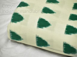 Green Ikat Fabric Yardage Handloom Upholstery Fabric Cotton sold by yard Double Ikat Home Decor Bedcovers Tablecloth Draperies Pillowcases