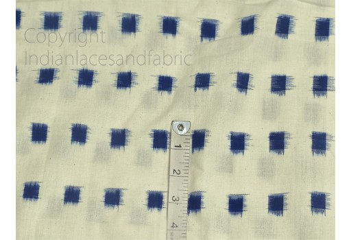 Blue Ikat Fabric Yardage Handloom Upholstery Fabric Cotton sold by yard Double Ikat Home Decor Bedcovers Tablecloth Draperies Cushion Covers